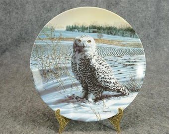 The Snowy Owl By Jim Beudoin Knowles Collector Plate C. 1989