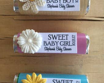 Boy Baby shower favors, baby showr mints, baby shower mint rolls, unique baby shower favors, baby boy mints, baby girl mints, baby mints
