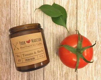Tomato & Herb Soy Candle, Soy candles handmade, Scented Soy Candle, Herbal Soy Candle