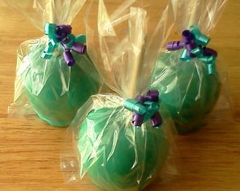 Colorful Candy Apples, Hard Candy Apples, Custom Flavors - *EXPRESS SHIPPING or free PICKUP*