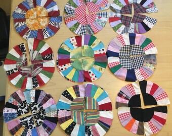 Vintage Quilt Blocks- Antique quilt blocks- Dresden Plate Quilt Block-Quilt Blocks-