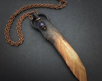 Feather Necklace | Electroformed Feather