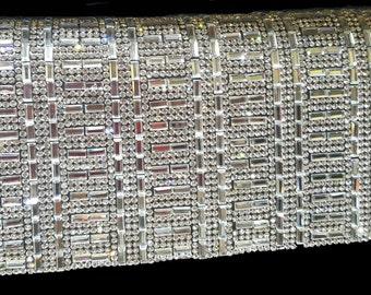 New Sliver Crystal & Rhinestone  Evening Clutch Bag