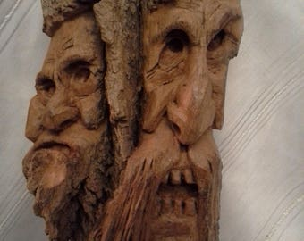 Spectacular Grimm Inspired Hand Carved Cottonwood Bark Family Tree Spirits Come To Life #4