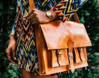 Handcrafted Leather Messenger Bag