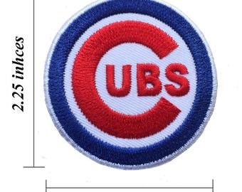 """Chicago Cubs Logo Size 2.25"""" Embroidered Iron 1 Patches"""