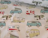Fabric by the Yard RV Camping Home Decor, VW Traveler, vanagons, 5th Wheel, Airstream, Motorhome, Retirement Gift, Excursion Trip Jayco Gift