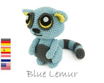 Crochet pattern Blue Lemur