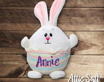 Plush Bunny, Plush Chick, Custom Name, Easter, Springtime, Basket Filler
