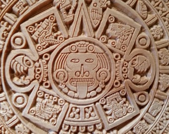 Mayan Calendar Carved in Wood