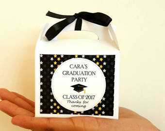 Graduation party favors / personalised graduation favor boxes / graduation favors / graduation party / grad party favors / graduation treats