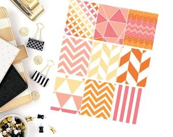 Evening Bonfire Full Box Stickers! Perfect for your Erin Condren Life Planner, calendar, Paper Plum, Filofax!