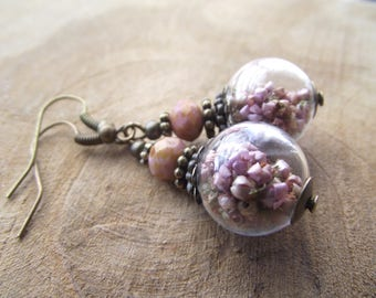 Earrings Erika Heather hollow beads 14 mm