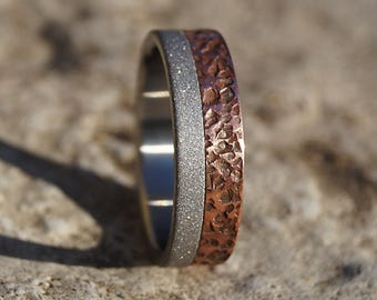 Titanium and copper ring