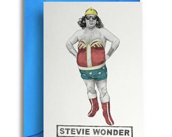 Stevie Wonder Card
