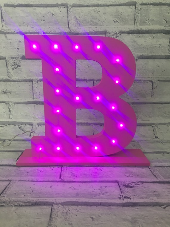 Items Similar To Led Light Up Initial Free Standing