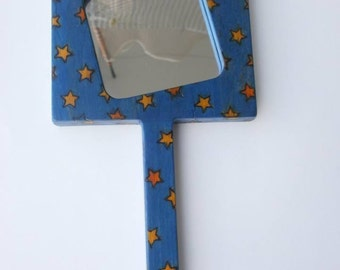 Greek starry night hand mirror