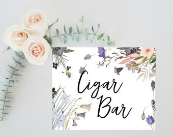 Rustic Wedding Cigar Bar Sign, Rustic Wedding Decor, Rustic Wedding Signs, Cigar Bar Printable, Wedding Bar Menu Sign, Boho Wedding Bar Sign