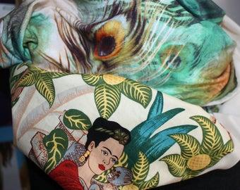 Frida Kahlo - loop - scarf - Circleschal - circle - loop Frida Kahlo