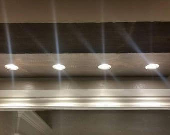 Rustic Beam with Flush Mount LED Floods, Free Shipping!