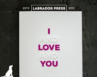 I and Love and You Valentine