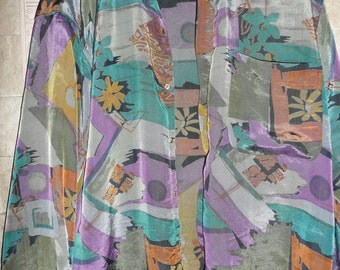 Christian Dior Vintage Crazy Print Silk Shirt long-sleev 90s