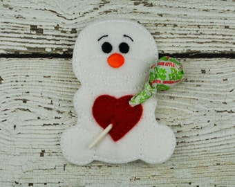 Olfie Sucker Holder - Small Gift - Class Party Gift - Valentine's Day - Lollipop Holder - Party Favor - Thank You Gift - Party Supplies
