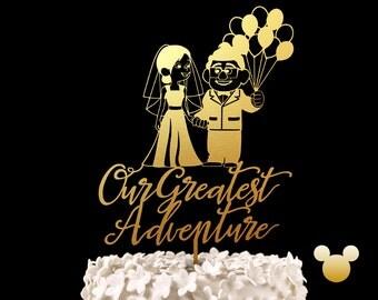 Our Greatest Adventure Disney Up Wedding Cake Topper -  Keepsake Wedding Cake Toppers