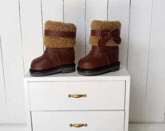 Brown Hair boots for Blythe