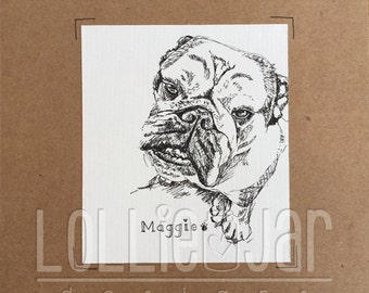 Made to Order Pet Condolence Card
