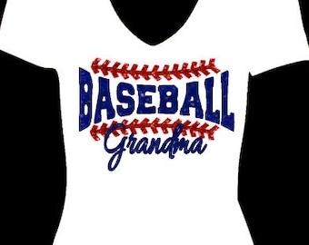 Baseball Grandma, glitter baseball, Baseball Mom, Glitter heat transfer, Baseball iron on, DIY Baseball