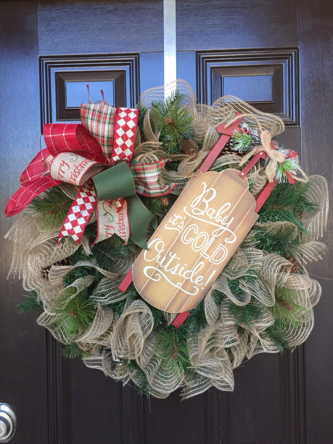 After christmas salechristmas wreath rustic decor holiday for After christmas decoration sales