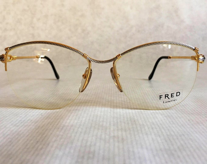 Fred Force 10 Bermude Vintage Eyeglasses Gold Plated Made in France including Case