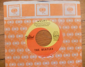 The Beatles Help Vinyl Record 45 rpm.Music Recorded Audio.Collectible Record.Pop Rock.