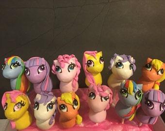 12 my little pony cake pops