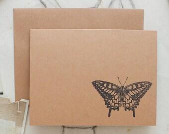 butterfly, oddity stationery, cute stationary, butterfly note cards, bug stationery, novelty stationery, stationary set, note cards