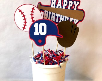 Baseball Centerpiece - baseball party - party supplies