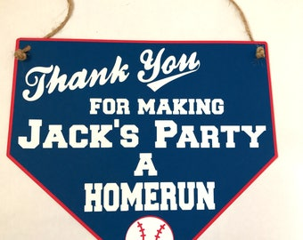 Baseball Thank You Party Sign - baseball party - party supplies