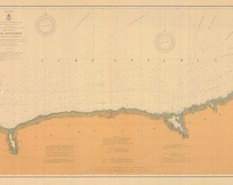 Lake Ontario - Little Sodus Bay to Charlotte Map 1906