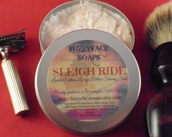 SLEIGH RIDE Luxury Tallow Shaving Soap Limited Edition Seasonal