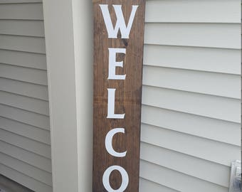 welcome sign, front door sign, front porch sign, welcome sign for front door, outdoor welcome sign, wood welcome sign, welcome home sign