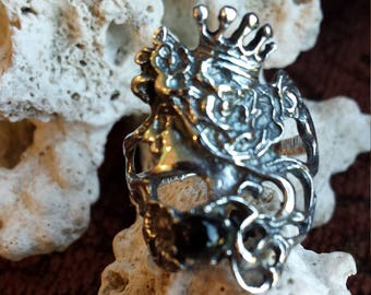 Sterling silver Victorian look ring