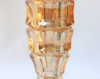 Vase in iridescent glass King James (manufacturer unknown)