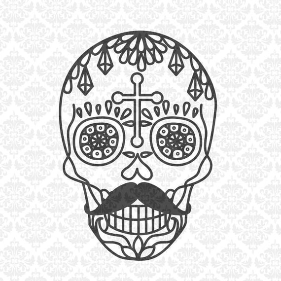 Sugar Skull Day of the Dead Halloween His & Hers Mr and Mrs SVG DXF Ai Eps PNG Vector instant Download Commercial Cut File Cricut Silhouette