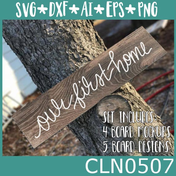 CLN0507 Ceramic Board Mockups & Designs Our First Home SVG DXF Ai Eps PNG Vector Instant Download Commercial Cut File Cricut Silhouette