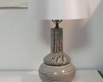 Mid Century Modern Glazed Ceramic Table Lamp