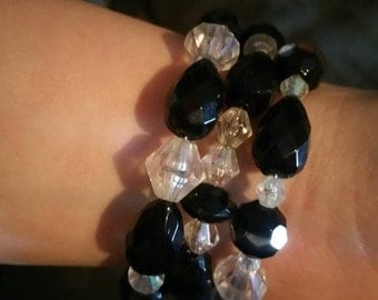 Gothic Black and White bracelet