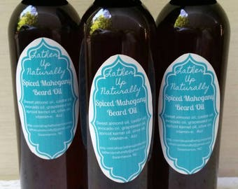 Spiced Mahogany Beard Oil,  beard,  oil,  lather up naturally,  natural,  moisturizing