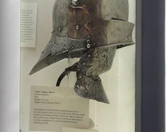 Canvas 24x36; Knight Armor Sallet Helmet, Southern Germany, 1480-1490