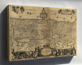 Canvas 24x36; Map Of Canaan; Holy Land Palestine Israel 1700
